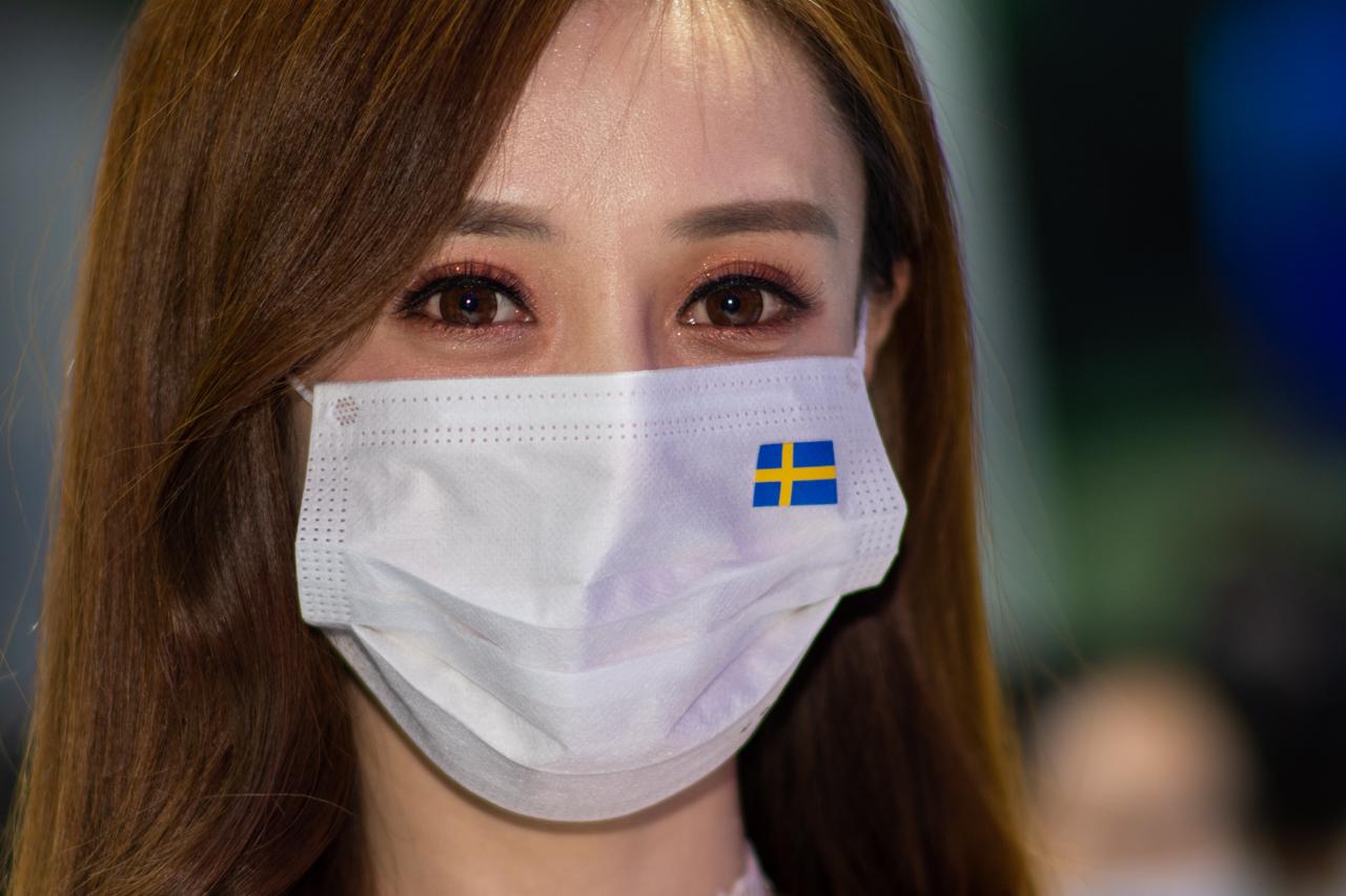 第23届成都国际车展-口罩模特
